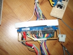 Virtua Fighter 3 harness and PSU, JAMMA biscuit