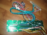 Virtua Fighter 3 harness and PSU, close-up view, original filter board