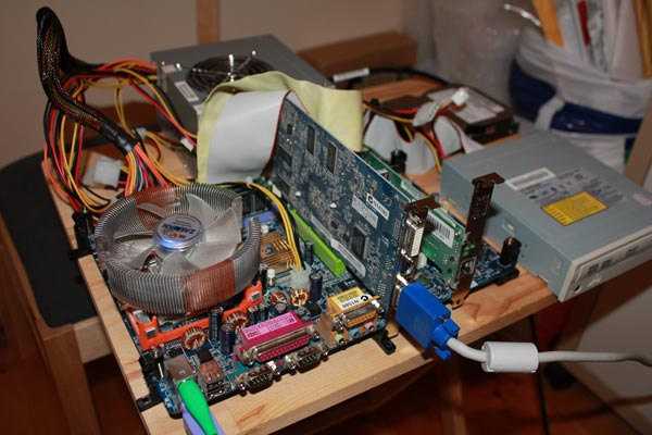 MAME PC on the workbench