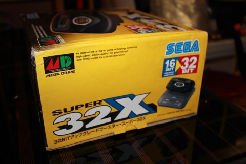 32X unboxing - side view of the box
