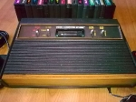 Woodgrain Atari 2600 - close-up