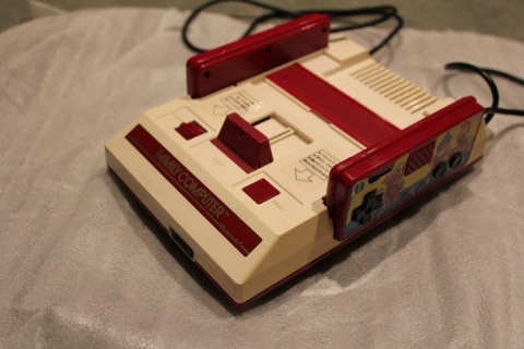 Famicom unboxing - angle view