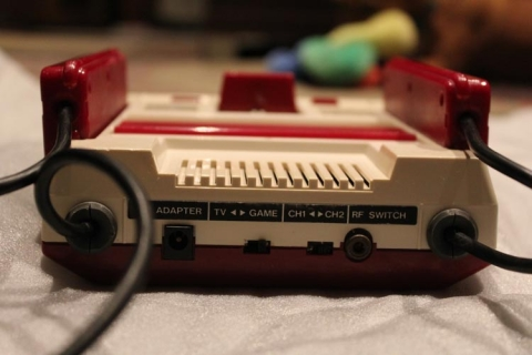 Famicom unboxing - rear view