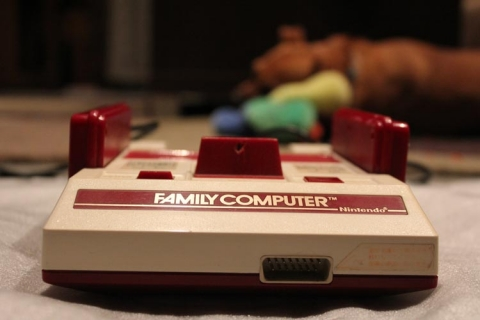Famicom unboxing - front view