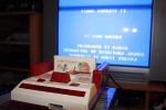 Famicom tuned in - angled view