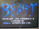 1 November 2009 - Sega Master System, Shadow of the Beast, title screen