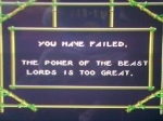 1 November 2009 - Sega Master System, Shadow of the Beast, game over