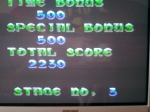 1 November 2009 - Sega Master System, Gain Ground, end of stage screen