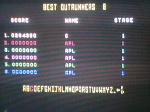 11 October 2009 - Commodore 64, Out Run, high score table