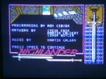 11 October 2009 - Commodore 64, Highlander, Title Screen