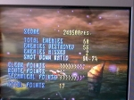 Gaming sessions 22 November 2009 - Sega Saturn, Panzer Dragoon 2, Episode 5 stats