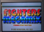 Gaming sessions 22 November 2009 - Sega Saturn, Fighters Megamix, Title Screen