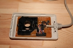 Amiga Mouse Repair - top view, cover removed