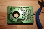 Amiga Mouse Repair - bottom view of the board