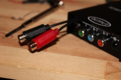 Hardware modifications - fitting external audio jacks to a RGB to component transcoder