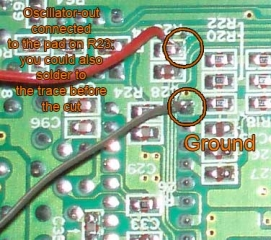 Wiring up the oscillator, 2