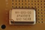 QXO-1100 mounted on veroboard, corner indicated
