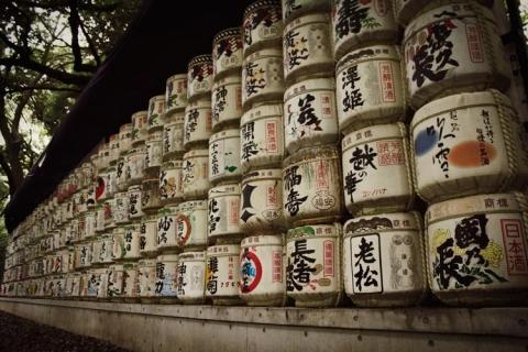 Day 1 - Sake barrels