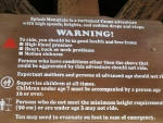 Day 14 - Splash Mountain warning sign
