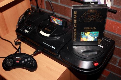 Wonder Boy in Monster World with Sega Mega Drive setup