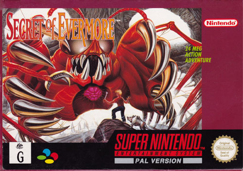 Secret of Evermore PAL box